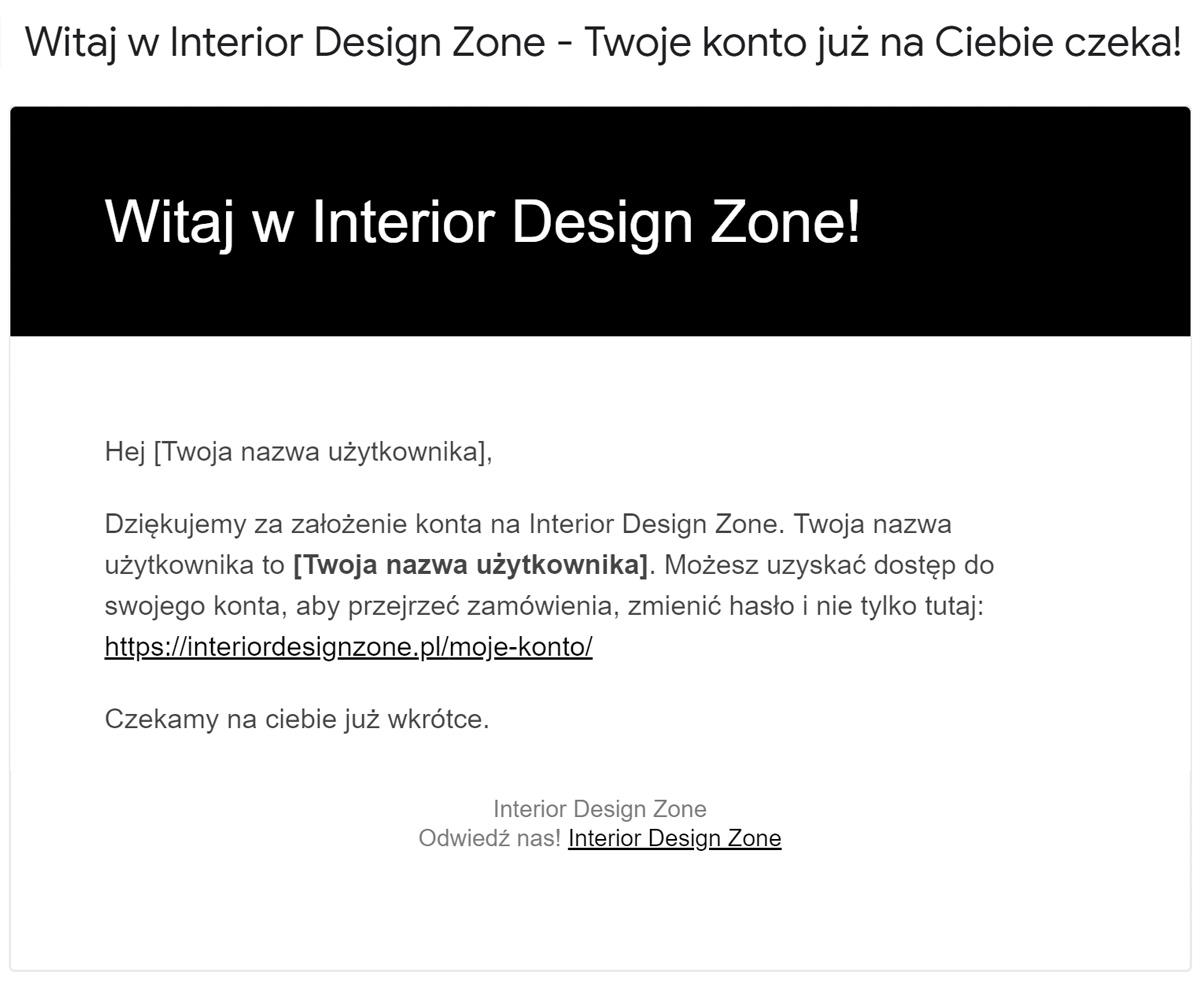 Interior Design Zone - rejestracja