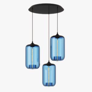 Lampa wisząca - niebieskie szkło